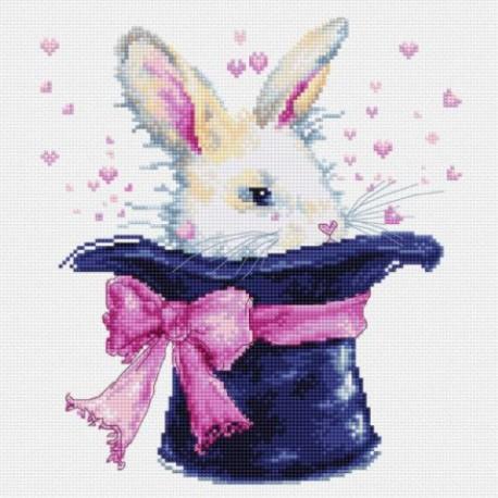 Кролик в шляпе Набор для вышивания Luca-S