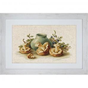 Натюрморт с грибами Набор для вышивания Luca-S
