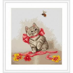 Кошечка с лентами Набор для вышивания Luca-S