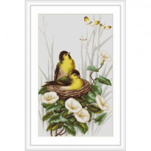 Птички в гнезде Набор для вышивания Luca-S