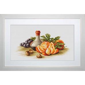 Натюрморт с апельсинами Набор для вышивания Luca-S