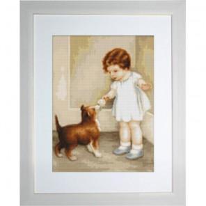 Девочка с собакой Набор для вышивания Luca-S
