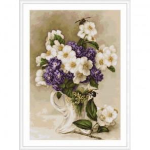 Цветы жасмина Набор для вышивания Luca-S