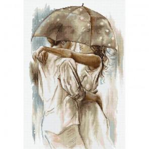 Под зонтом (сепия) Набор для вышивания Luca-S