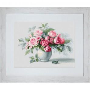 Этюд с чайными розами Набор для вышивания Luca-S