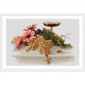 Цветы и виноград Набор для вышивания Luca-S