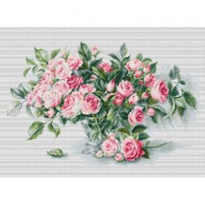 Букет чайных роз Набор для вышивания Luca-S