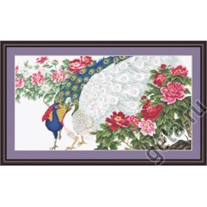 Павлины в цветах Набор для вышивания Luca-S
