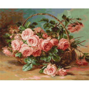 Розы в корзине Набор для вышивания Luca-S