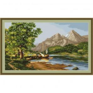 Горное озеро Набор для вышивания Luca-S