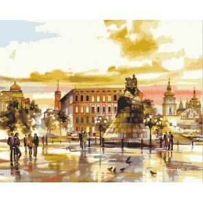 Городская площадь Раскраска по номерам на холсте