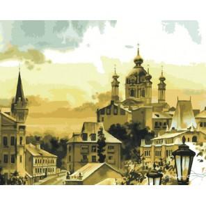 Городские крыши Раскраска по номерам на холсте