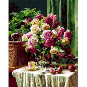 Натюрморт с розами Раскраска по номерам на холсте