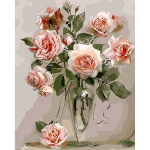 Розы Раскраска по номерам на холсте