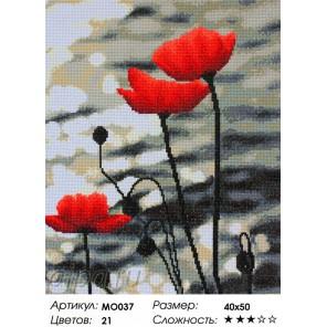 Сложность и количество цветов  Маки у Женевского озера Алмазная мозаика MO037