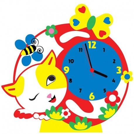 Котик часы Набор для творчества из фоамирана Color Kit CL015
