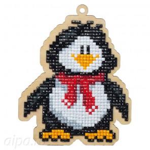 Пингвин Вилли Алмазная мозаика подвеска Гранни Wood