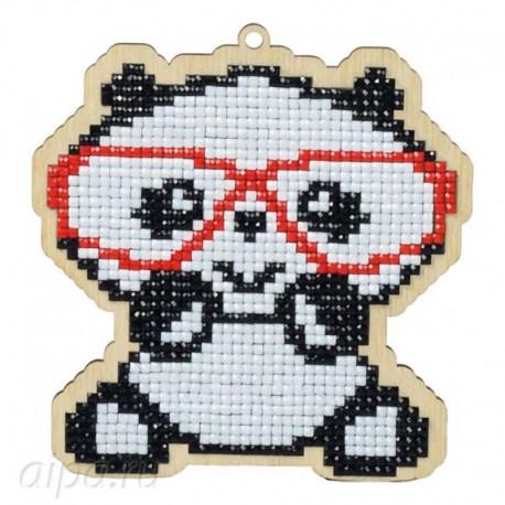 Панда в очках Алмазная мозаика подвеска Гранни Wood