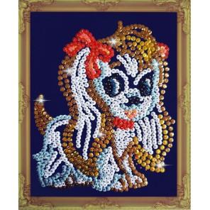 Собачка Набор для создания картины из пайеток CM005