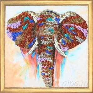 Слон Набор для создания картины из пайеток CMD011