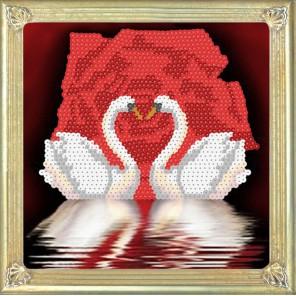 Лебеди Набор для создания картины из пайеток CMD004