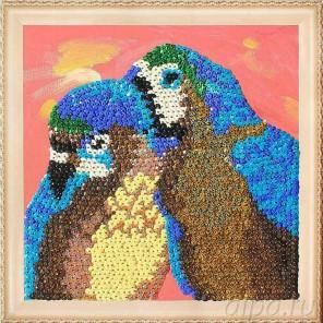 Попугаи Набор для создания картины из пайеток CMD009