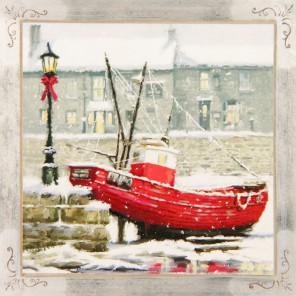 Лодка Набор для создания картины из пайеток CMD005