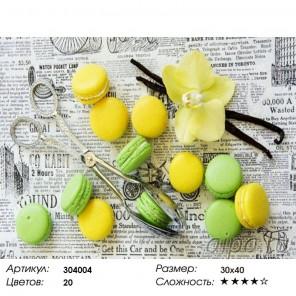 Сложность и количество цветов Аппетитно! Алмазная частичная вышивка (мозаика) Color Kit