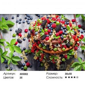 Сложность и количество цветов Ягодный пирог Алмазная частичная вышивка (мозаика) Color Kit