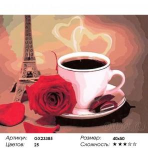 Количество цветов и сложность Утро в Париже Раскраска картина по номерам на холсте GX23385