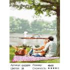 Количество цветов и сложность Пикник у озера Раскраска картина по номерам на холсте GX23599