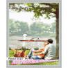 В рамке N167 Пикник у озера Раскраска картина по номерам на холсте GX23599