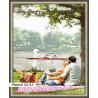 В рамке N143 Пикник у озера Раскраска картина по номерам на холсте