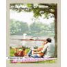 В рамке N166 Пикник у озера Раскраска картина по номерам на холсте