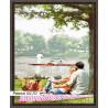 В рамке N170 Пикник у озера Раскраска картина по номерам на холсте