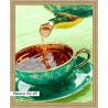 В рамке N118 Ароматный чай Раскраска картина по номерам на холсте