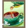 В рамке N133 Ароматный чай Раскраска картина по номерам на холсте