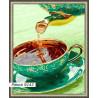 В рамке N143 Ароматный чай Раскраска картина по номерам на холсте