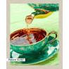 В рамке N166 Ароматный чай Раскраска картина по номерам на холсте