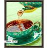 В рамке N170 Ароматный чай Раскраска картина по номерам на холсте