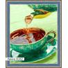 В рамке N182 Ароматный чай Раскраска картина по номерам на холсте