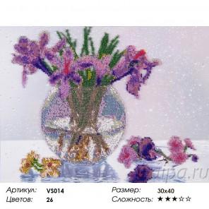 Сложность и количество цветов Дыхание весны Набор для вышивания бисером на подрамнике VS014