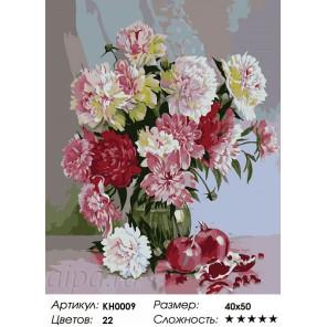 Сложность и количество цветов  Весенний букет Раскраска по номерам на холсте KH0009