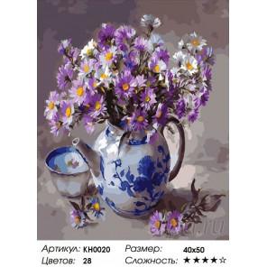 Сложность и количество цветов Чайное настроение Раскраска по номерам на холсте KH0020