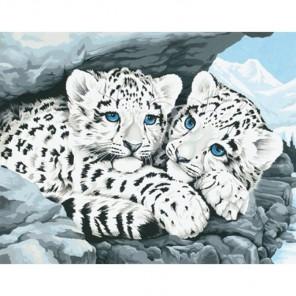 * Детеныши снежного леопарда 91079 Раскраска по номерам Dimensions