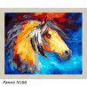 В рамке N166 Конь из сновидений Раскраска картина по номерам на холсте