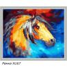 В рамке N167 Конь из сновидений Раскраска картина по номерам на холсте