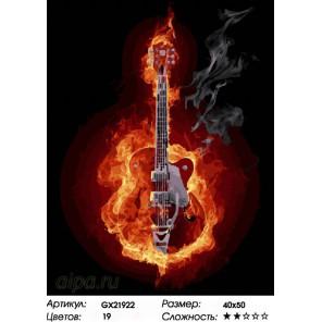 Количество цветов и сложность Пламенное соло Раскраска картина по номерам на холсте GX21922