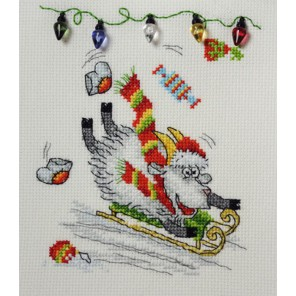 Задорное катание Набор для вышивания Машенька 01.033.22