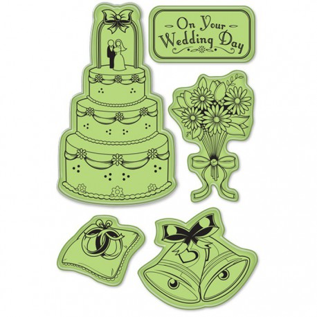 День свадьбы Набор резиновых штампов для скрапбукинга, кардмейкинга Inkadinkado